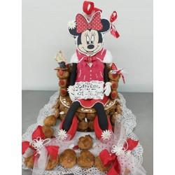 Minnie en pâte à sucre et...