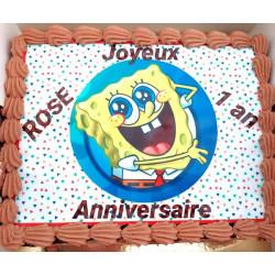 Gâteau chocolat décoré à la...