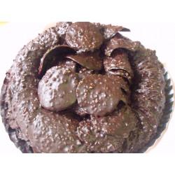 Tuiles chocolat noir amandes